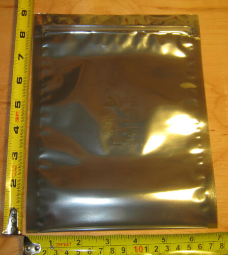 6 BAGS IN 3 ASSORTED SIZES FARADAY CAGE ESD BAGS Survivalists Preppers EMP