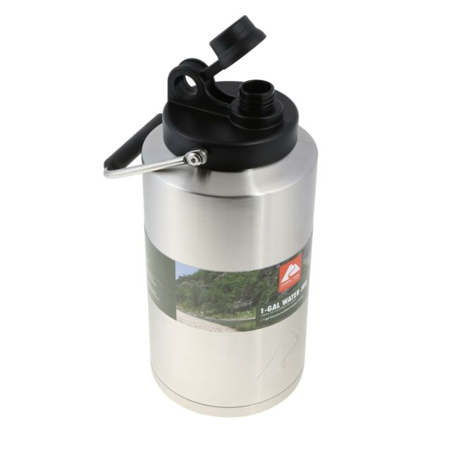 Stainless Steel Water Jug 1 Gallon Ozark Trail Double Wall Vacuum Insulated New