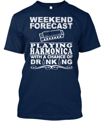 Harmonica-Week-end prévisions jouant avec une chance de Standard Unisexe T-Shirt