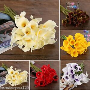 Calla Bridal Wedding Bouquet 1020 Latex Real Feeling Flower