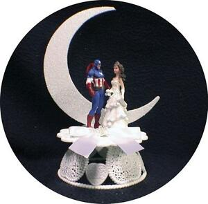 Image Is Loading Captain America Wedding Cake Topper Top Super Hero