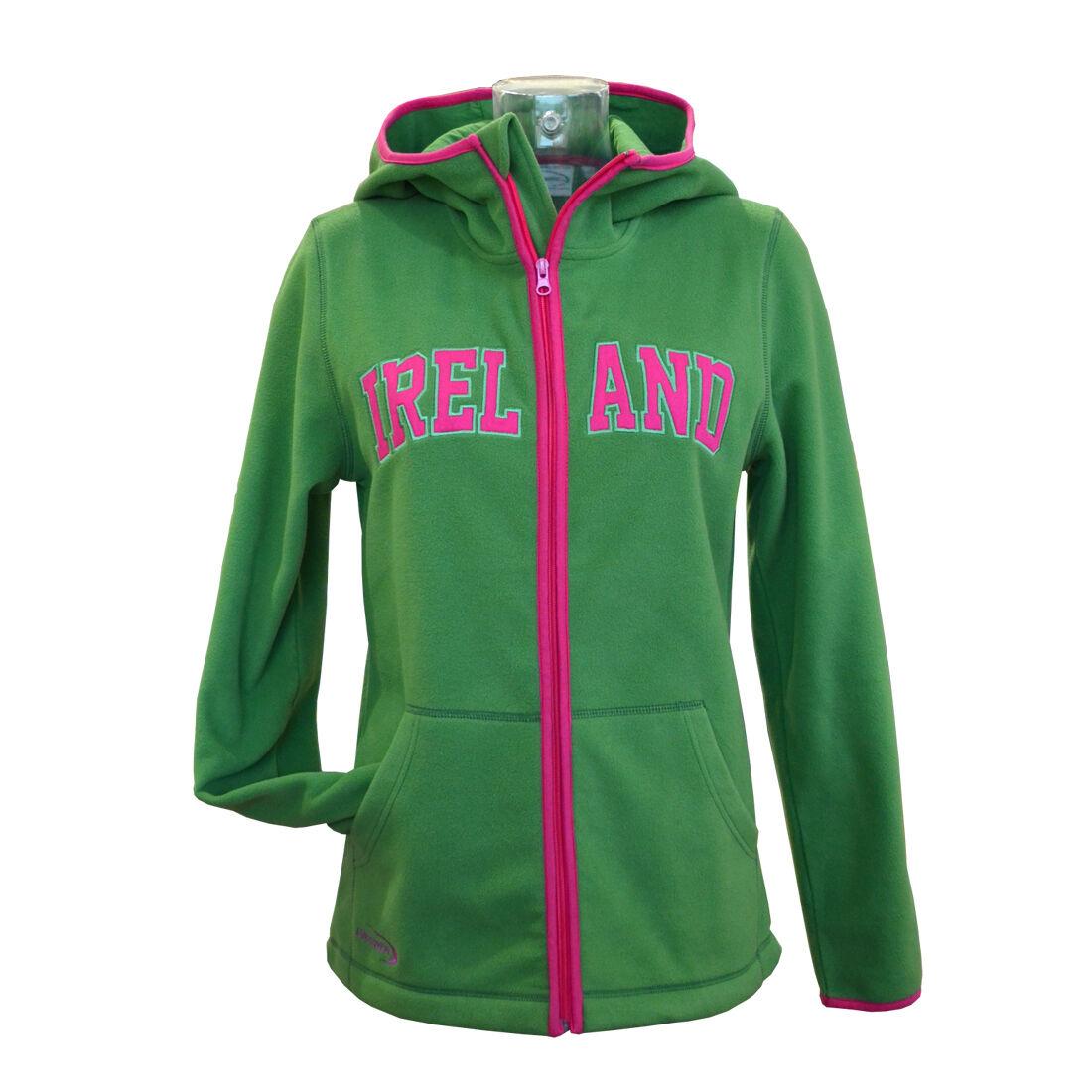 Sage Pink Ireland Zip Hooded Ladies Fleece