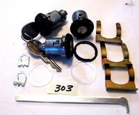 1979 - 1988 Monte Carlo Door Trunk Lock Set Black Caps Later Style Gm Keys 303