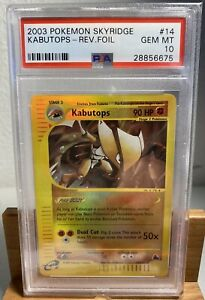 2003-Pokemon-14-Kabutops-Reverse-Foil-Skyridge-GEM-MT-PSA-10-LOW-POP-20