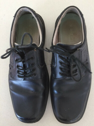 Formal Black Leather School Shoes AIRFLEX Size 8 UKAUS Trance II SNR