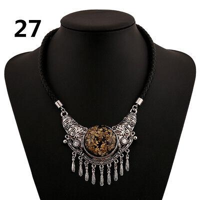 Hot New Fashion silver Pendant Statement Bib Chunky Charm Choker Necklace