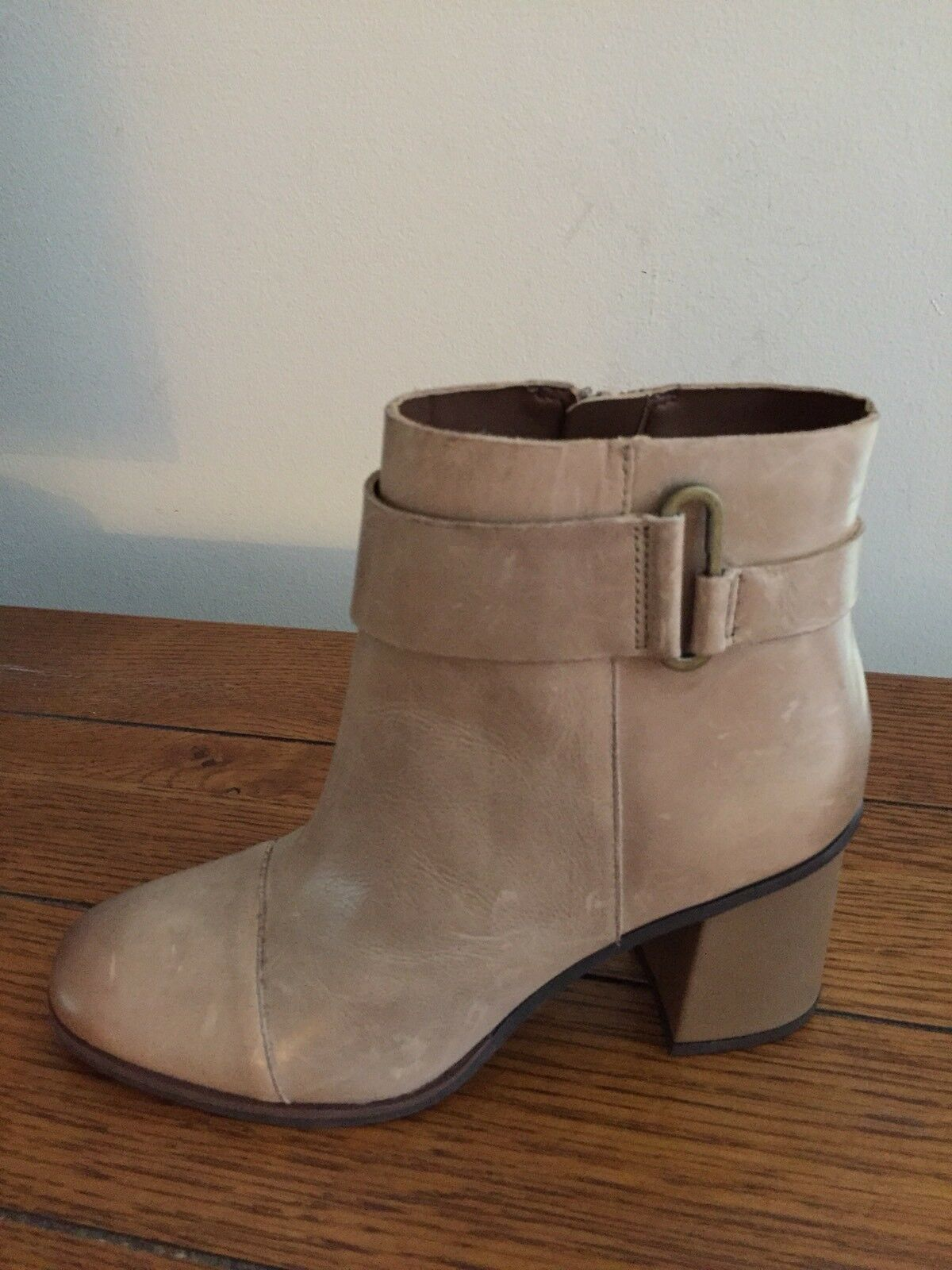 NEW Korks Korks Korks By Kork-Ease Decola Size 7.5 Taupe Brown Leather Cap Toe Ankle Boots 62cdcf