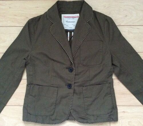 Piped Boy Blazer Jacket By Cartonnier Various Sizes Green NW ANTHROPOLOGIE Tag