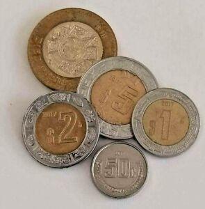 Mexico 2017 pesos coins, $10,$5,$2,$1
