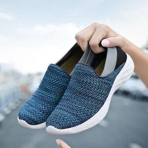 Women-039-s-Sport-Running-Shoes-Breathable-Mesh-Walking-Lightweight-Slip-On-Sneakers