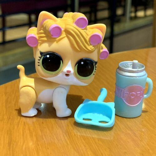 rare LOL SURPRISE PETS Eye Spy Kitty Series 4 Doll Kitten Cat Curlers hair Toy
