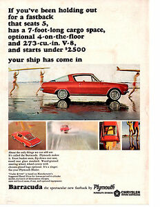 1964-PLYMOUTH-BARRACUDA-273-V-8-ORIGINAL-PRINT-AD