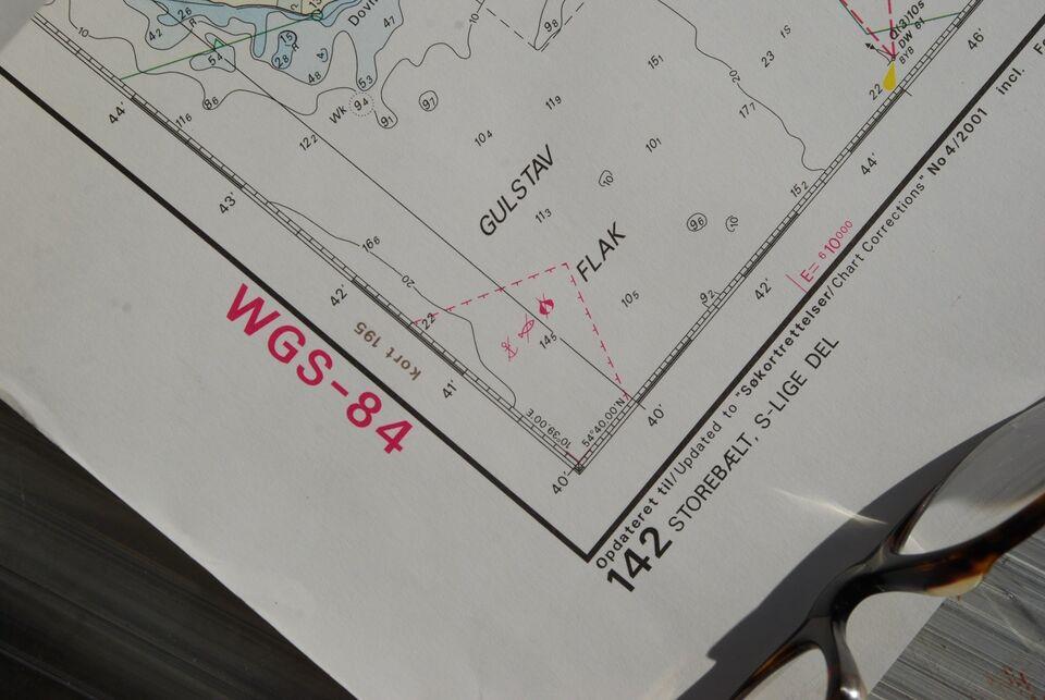 Storebælt S-lige del , WGS-84
