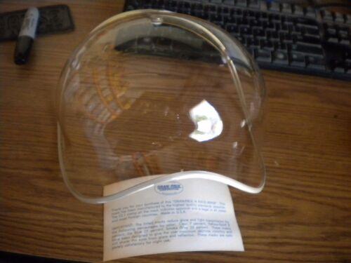 NOS Vintage 3 Snap Clear Helmet Bubble Shield Visor w Silver Trim USA Bell Buco