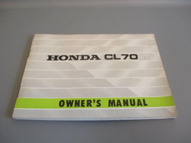 Honda Oem Owners Manual 1970 Cl 70 Cl70 K1 311111