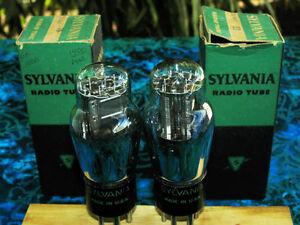 Sylvania-USA-NIB-NOS-19-19E-PH19-twin-triode-output-tubes-strong-matched-pair