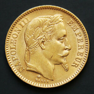 Piece-or-20-francs-or-Napoleon-III-tete-lauree-annees-variees-gold-coin-France