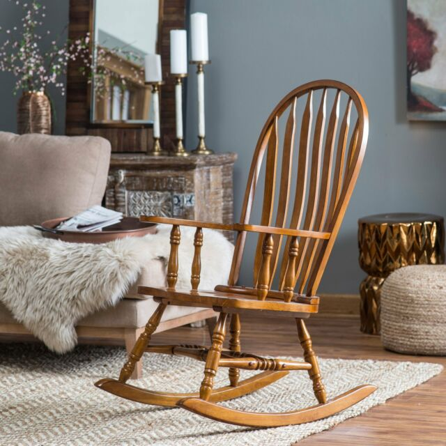Admirable Country Manor Classic Oak Wood Farmhouse Rocking Chair Nursery Rocker Unemploymentrelief Wooden Chair Designs For Living Room Unemploymentrelieforg