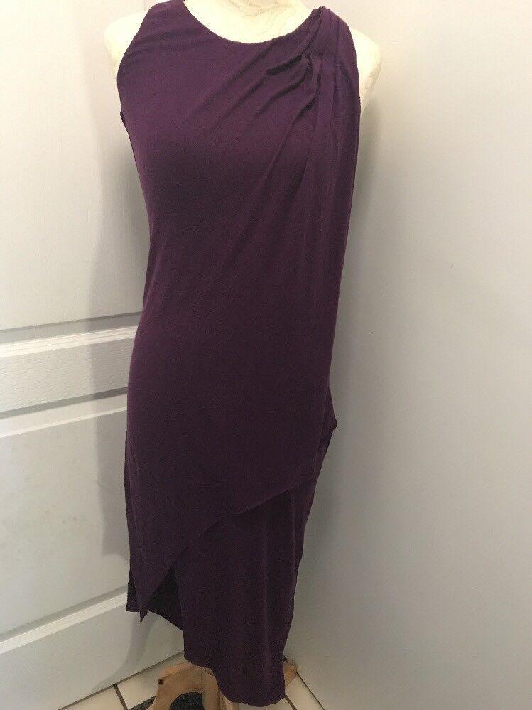 Elizabeth and James CUTE Womens Eggplant Asymmetric Hi-Lo Beautiful Dress XS