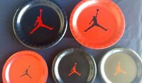 15 Jumpman Theme Round Paper Plates Birthday Party Baby Shower Red Black White &
