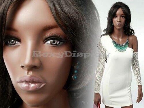 Fiberglass Pretty Black Female Mannequin Display Dress Form #MYA2-MZ