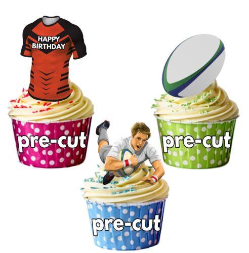 Vorgeschnitten Geburtstag Rugby Party Packung Tasse Kuchendekoration Castleford