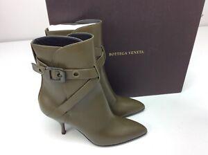 Bottega-Veneta-Mod-Bootie-Ankle-Boots-Mustard-Size-37-US-7