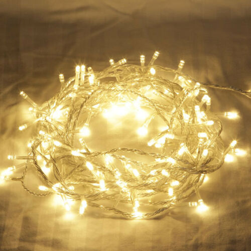 2 metre LONG 20 bulb Warm White LED fairy party light lead string BATTERY power