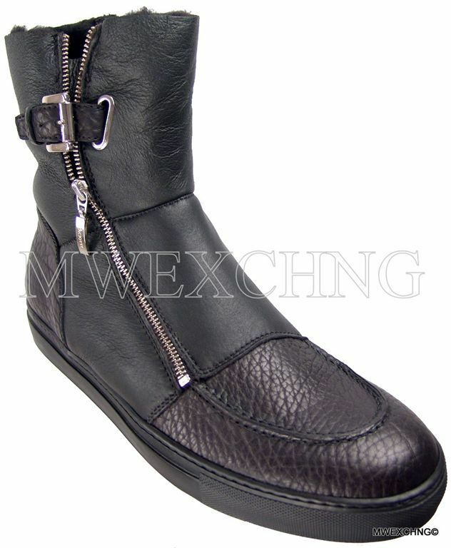 CESARE PACIOTTI US 11 Lujoso De Piel De Oveja botas Zapatos para Hombres Diseñador Italiano