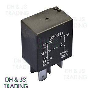 Micro Relay 4 PIN 12v 20a Diode Normally Open Mini 20 amp CAR VAN