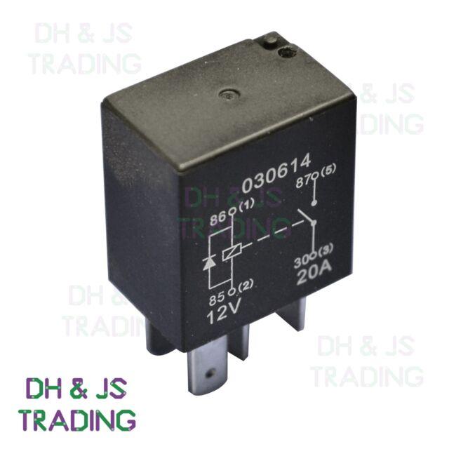 Micro Relay 4 Pin 12v 20a Diode Normally Open Mini 20 Amp
