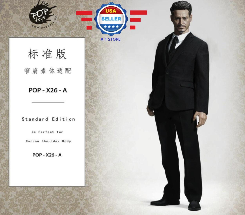 POPTOYS 1 6 Standard Men business suit Western-style Western-style Western-style 12'' Body COOMODEL BD001 65b40f