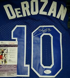 pretty nice ccf9d 9e8a8 Details about Demar Derozan Signed Hardwood Classic Nights Jersey Size XL.  JSA CERTIFIED