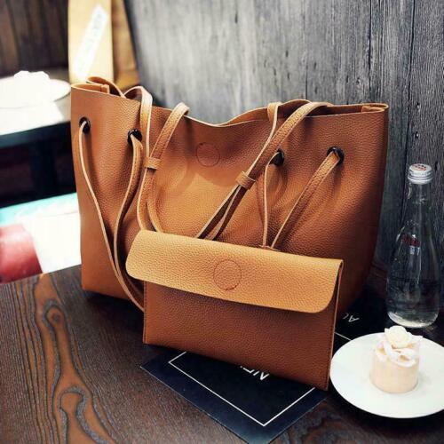 Women Shoulder Messenger Bag PU Leather Tote Purse Satchel Handbag Bag Cros C8P5
