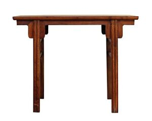 Image Is Loading Chinese Oriental Natural Wood Plain Altar Console Table