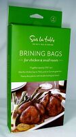 Sur La Table Pack Of 4 Brining Bags 1.5 Gal. For Chicken & Small Roasts