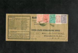 SAUDI-ARABIAN-WW-II-Flight-Cover-to-U-S-Hydrographic-Office-Navy-Dept-via-TWA