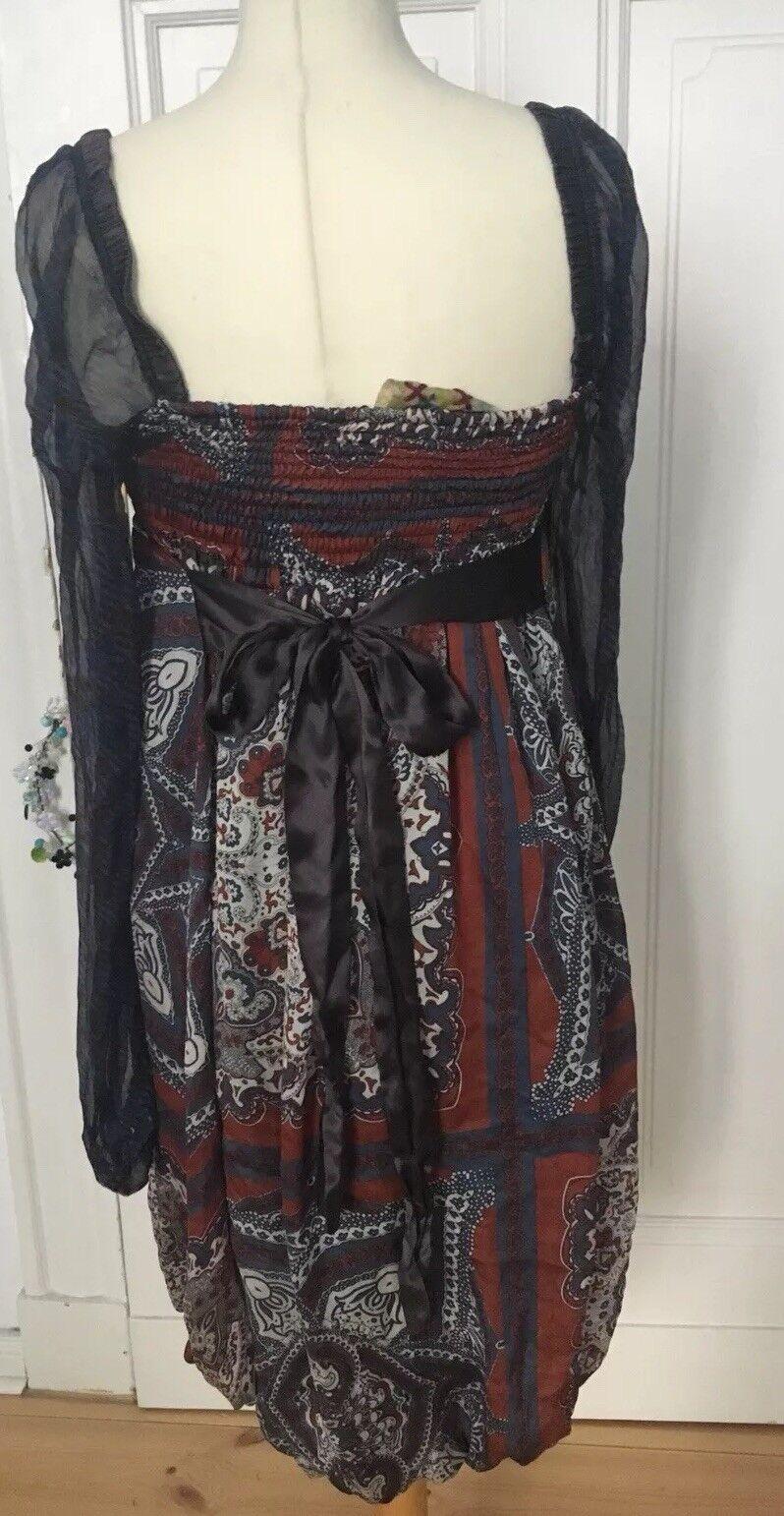 Boho-Kleid ALICE San Diego 100% Seide 40       Verschiedene Stile    Haltbar  12510b
