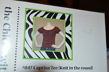 Chicks with Sticks Knitting Pattern 047 Captiva Tee Knit in the Round