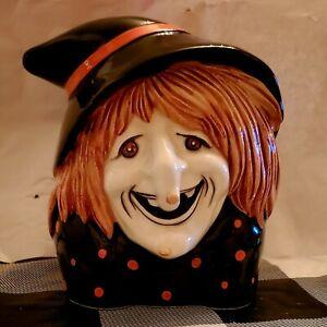 HALLOWEEN-RARE-Vintage-Witch-Planter-Figurine-Inarco-Napco