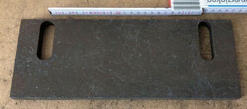 Eisenplatte 300x115x15 mm Ankerplatte Stahlplatte Platte Langlochplatte Nr 56