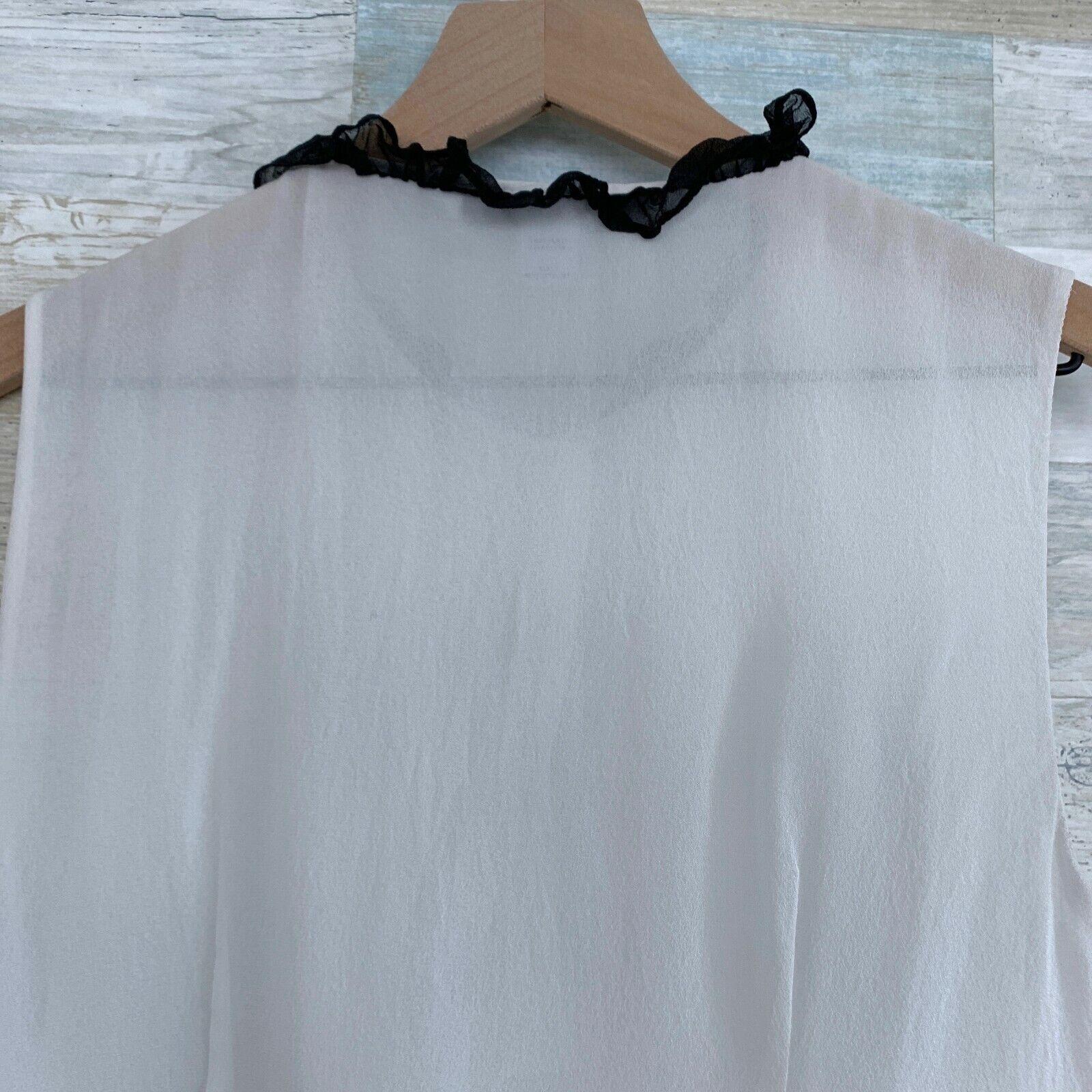 Diane Von Furstenburg Betsy Silk Tuxedo Blouse Bl… - image 5