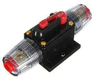 60 Amp In Line Circuit Breaker Stereo Audio Car Rv 60a