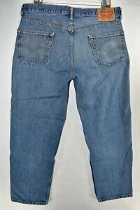 Levi-039-s-550-Relaxed-Fit-Mens-Jeans-Size-36x30-Blue-Meas-35x29-5