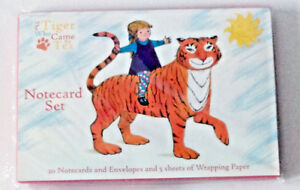 The-Tiger-Who-Came-to-Tea-20-BLANK-NOTECARDS-5-SHEETS-GIFT-WRAP-PAPER-Gift-Set