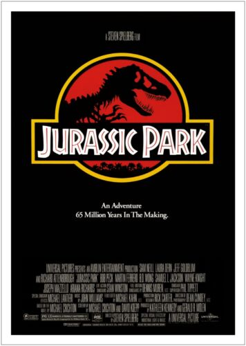 Jurassic Park Classic Movie Large CANVAS Art Print A0 A1 A2 A3 A4
