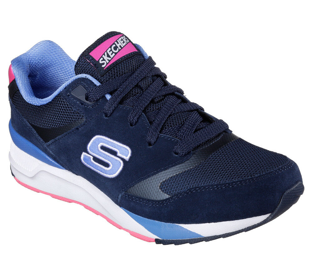NEU SKECHERS Damen Foam Jogger Sneakers Turnschuh Memory Foam Damen OG 90 RAD RUNNERS Blau d55547