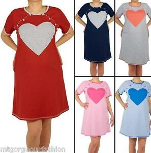 988a257b51f39 Image is loading Pregnant-Maternity-Pregnancy-Breastfeeding-Nursing- Nightdress-UK-size-