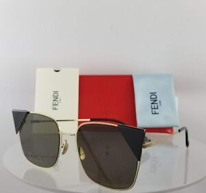 c50f03060f0 Brand New Authentic Fendi FF 0191 S Sunglasses 0002M Black Gold ...