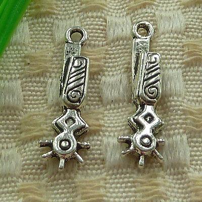free ship 20 pcs tibetan silver Cowboy Spurs charms 27x8mm #3842